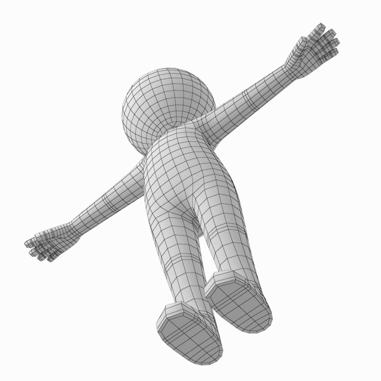 pieaugušais stilizēts stickman in t-pose 3d modelis txt png 3ds max c4d de dwf dxf fbx ma mb obj stl 306216