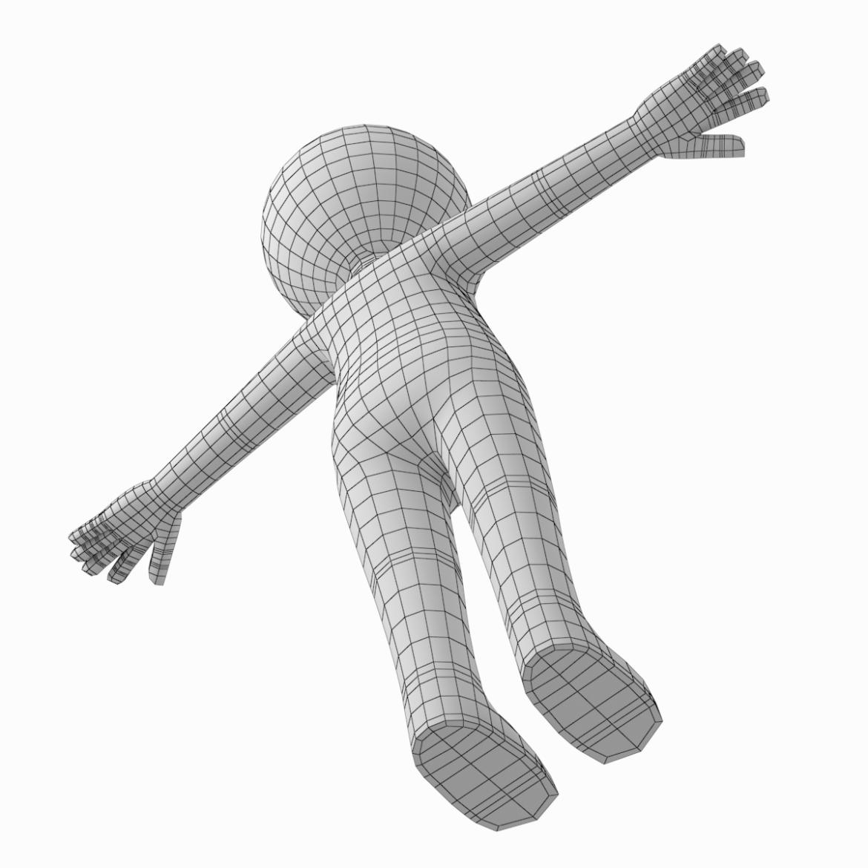 pieaugušais stilizēts stickman in t-pose 3d modelis txt png 3ds max c4d de dwf dxf fbx ma mb obj stl 306219
