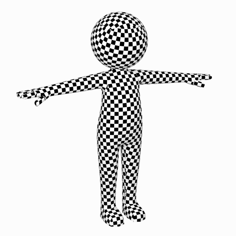 pieaugušais stilizēts stickman in t-pose 3d modelis txt png 3ds max c4d de dwf dxf fbx ma mb obj stl 306222