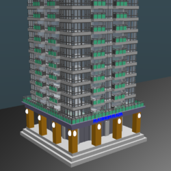 high raised skyscraper building 3d model blend 306284