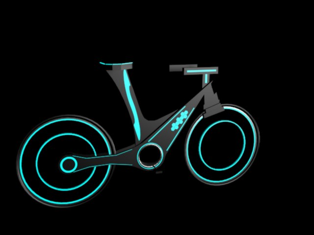 neon bike 3d model max 306345