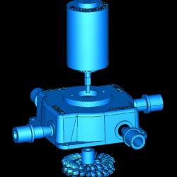 pelton turbine full station 3d model obj 306493