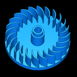 cross-flow turbine 3d model obj 306498
