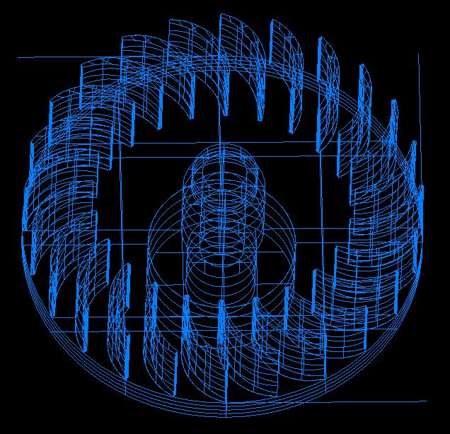 cross-flow turbine vertical full station 3d model obj 306503
