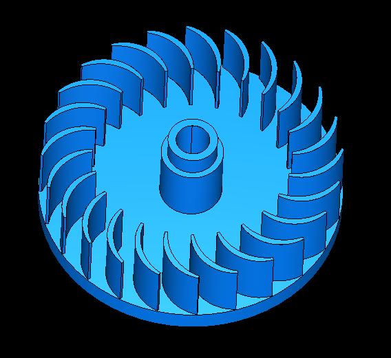 cross-flow turbine vertical full station 3d model obj 306504