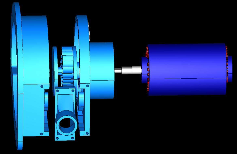 cross-flow turbine vertical full station 3d model obj 306505