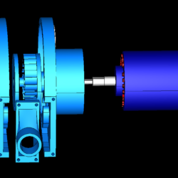 cross-flow turbine vertical full station 3d model obj 306505