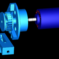 cross-flow turbine horizontial full station 3d model 3ds 306518