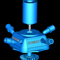 turgo turbine full station 3d model 3ds 306555