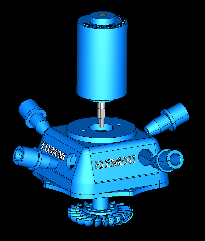 turbo turbinə tam stansiya 3d model 3ds 306555