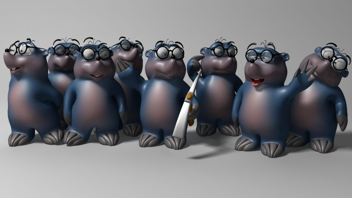 cartoon mole 3d model 3ds max fbx  obj 306722