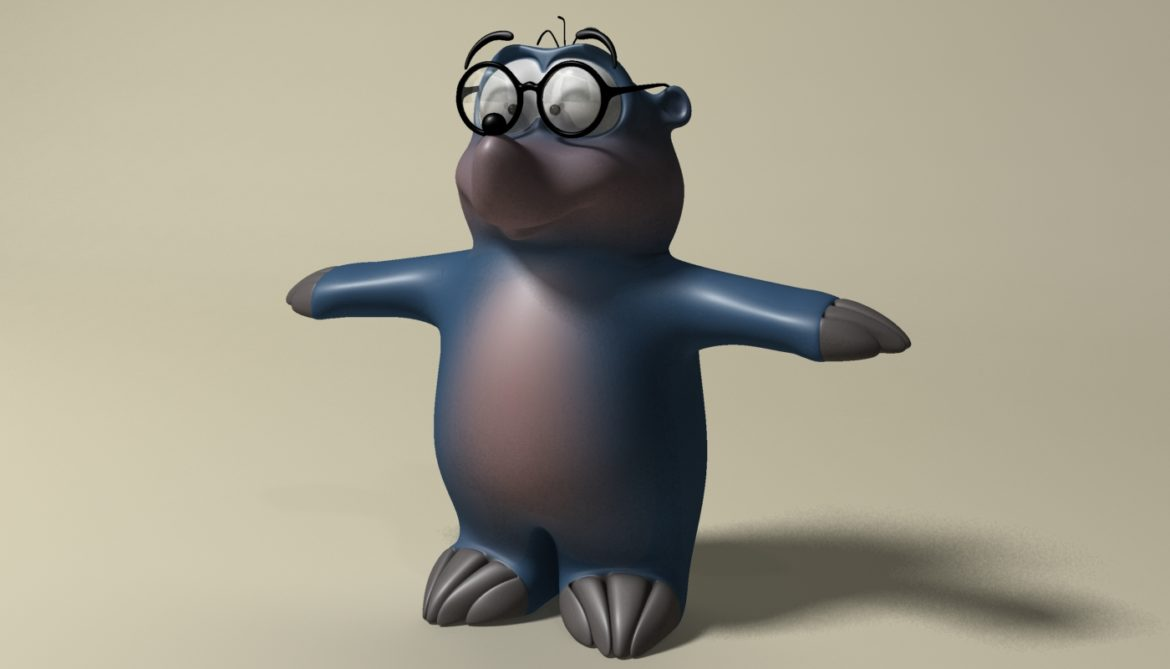 cartoon mole 3d model 3ds max fbx  obj 306725