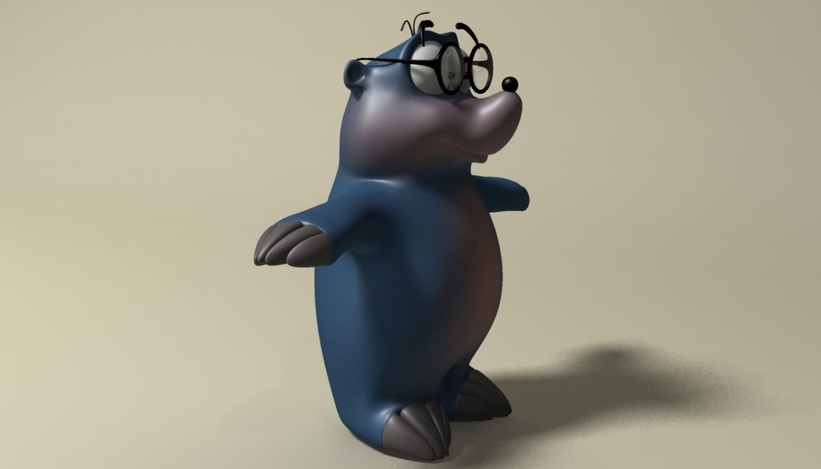 cartoon mole 3d model 3ds max fbx  obj 306726