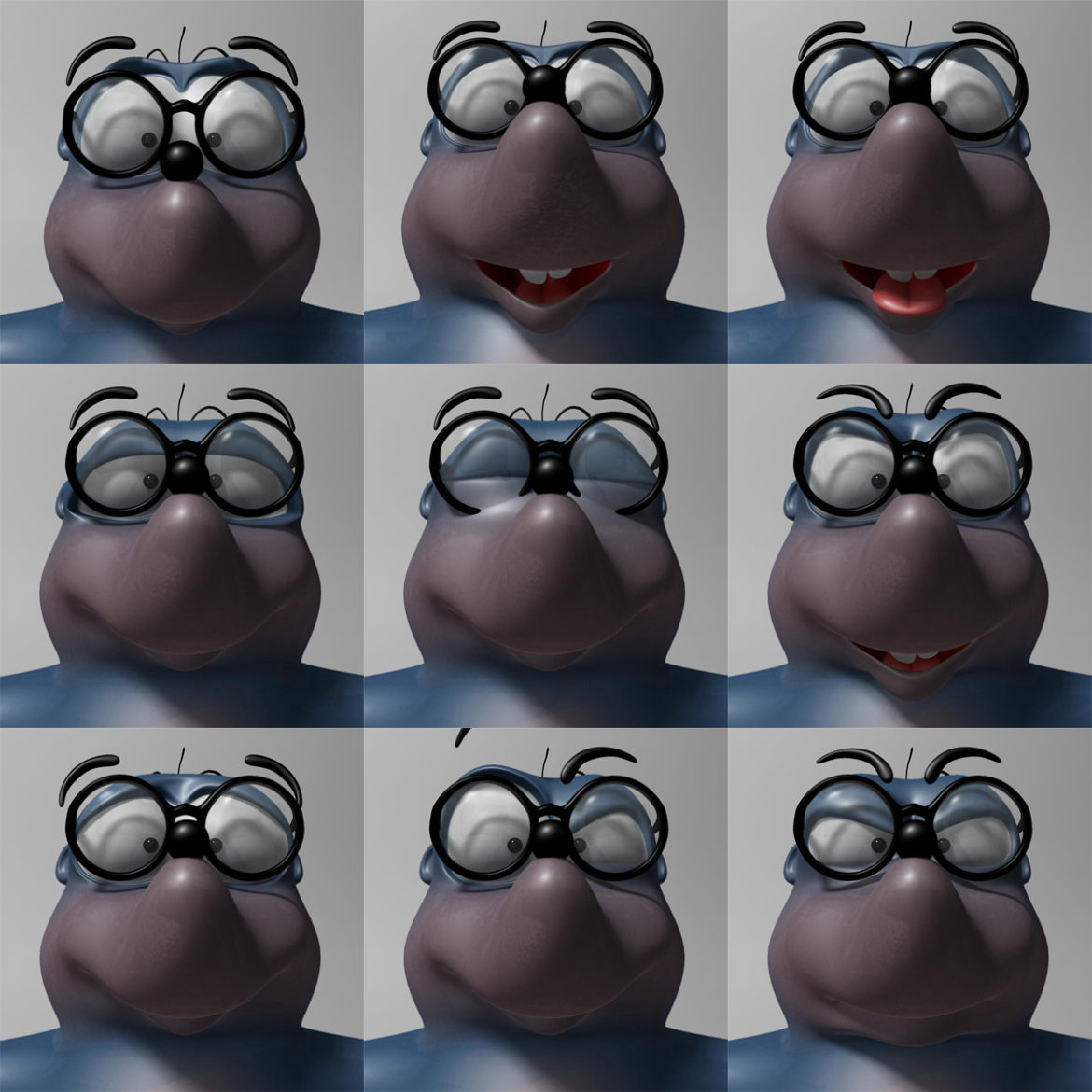 cartoon mole 3d model 3ds max fbx  obj 306732