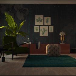 dzīvojamā istaba 3d modelis max 306992