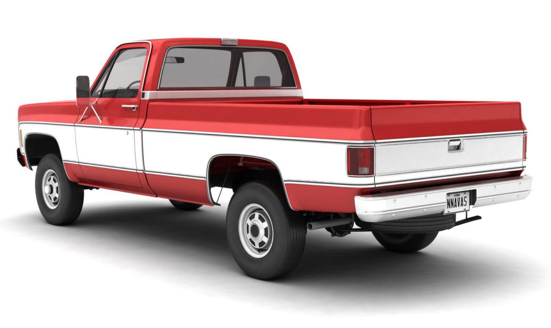 generic 4wd pickup truck 7 3d model 3ds max fbx obj 307077