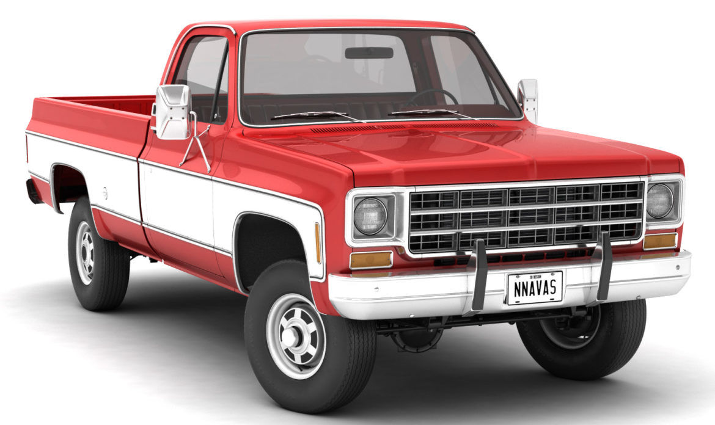 generic 4wd pickup truck 7 3d model 3ds max fbx obj 307078