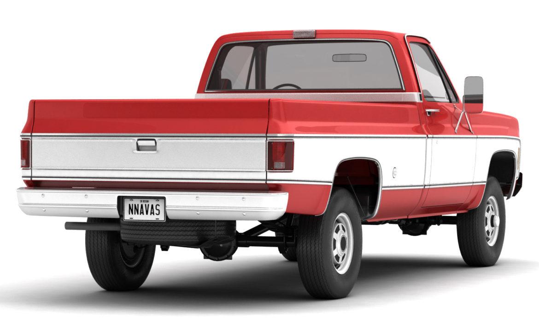 generic 4wd pickup truck 7 3d model 3ds max fbx obj 307079