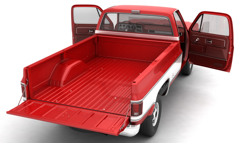 generic 4wd pickup truck 7 3d model 3ds max fbx obj 307080