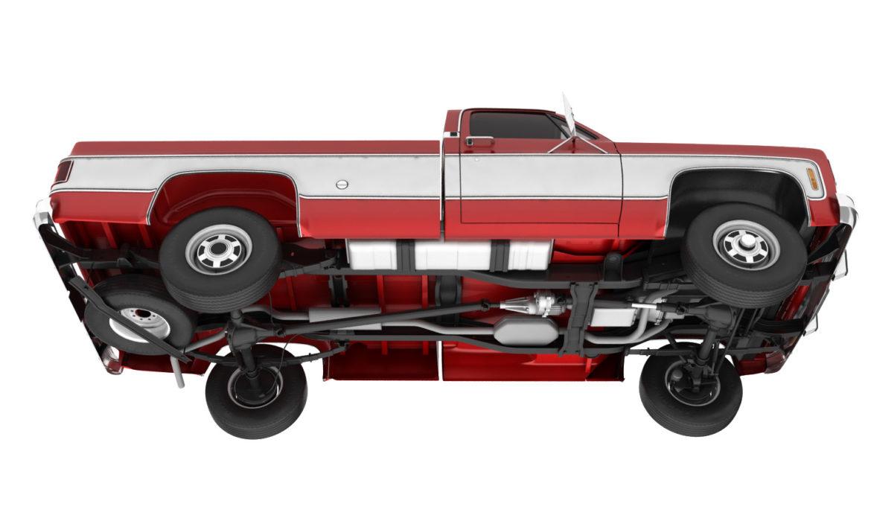 generic 4wd pickup truck 7 3d model 3ds max fbx obj 307081