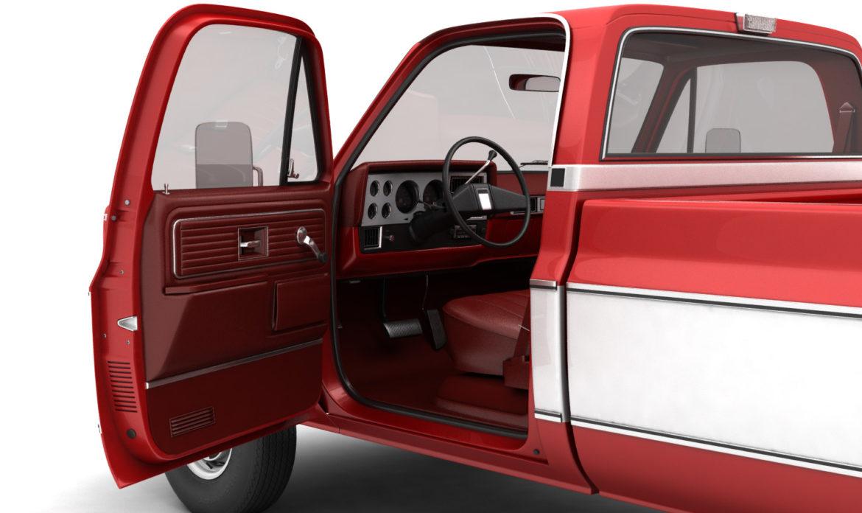 generic 4wd pickup truck 7 3d model 3ds max fbx obj 307082