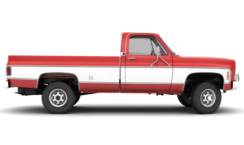 generic 4wd pickup truck 7 3d model 3ds max fbx obj 307086