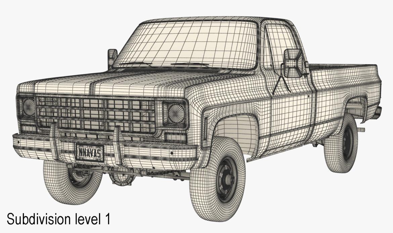 generic 4wd pickup truck 7 3d model 3ds max fbx obj 307092