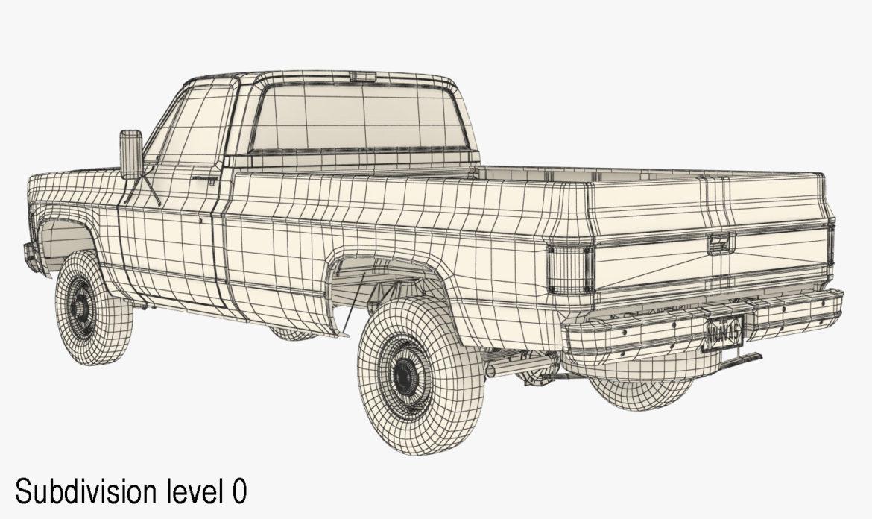 generic 4wd pickup truck 7 3d model 3ds max fbx obj 307093
