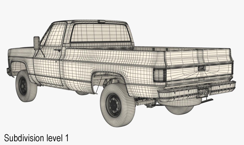 generic 4wd pickup truck 7 3d model 3ds max fbx obj 307094