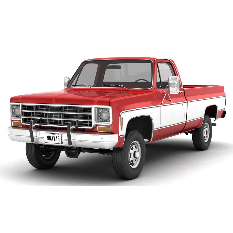 generic 4wd pickup truck 7 3d model 3ds max fbx obj 307098