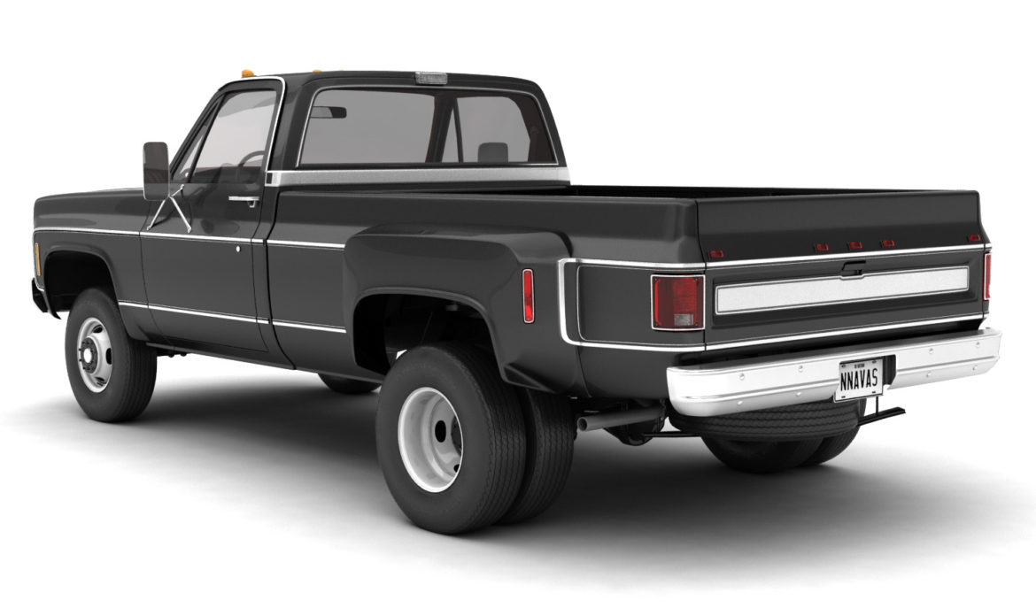 generic 4wd dually pickup truck 8 3d model 3ds max fbx obj 307107