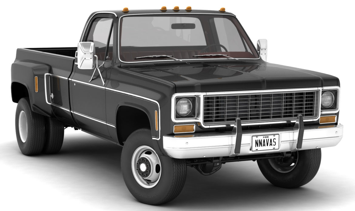 generic 4wd dually pickup truck 8 3d model 3ds max fbx obj 307108
