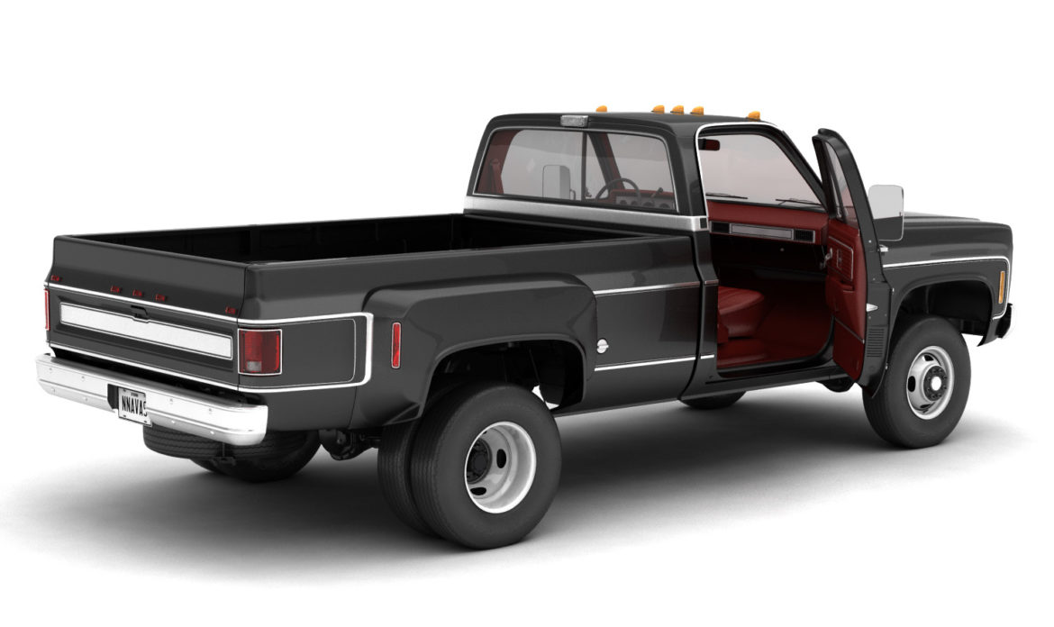 generic 4wd dually pickup truck 8 3d model 3ds max fbx obj 307109