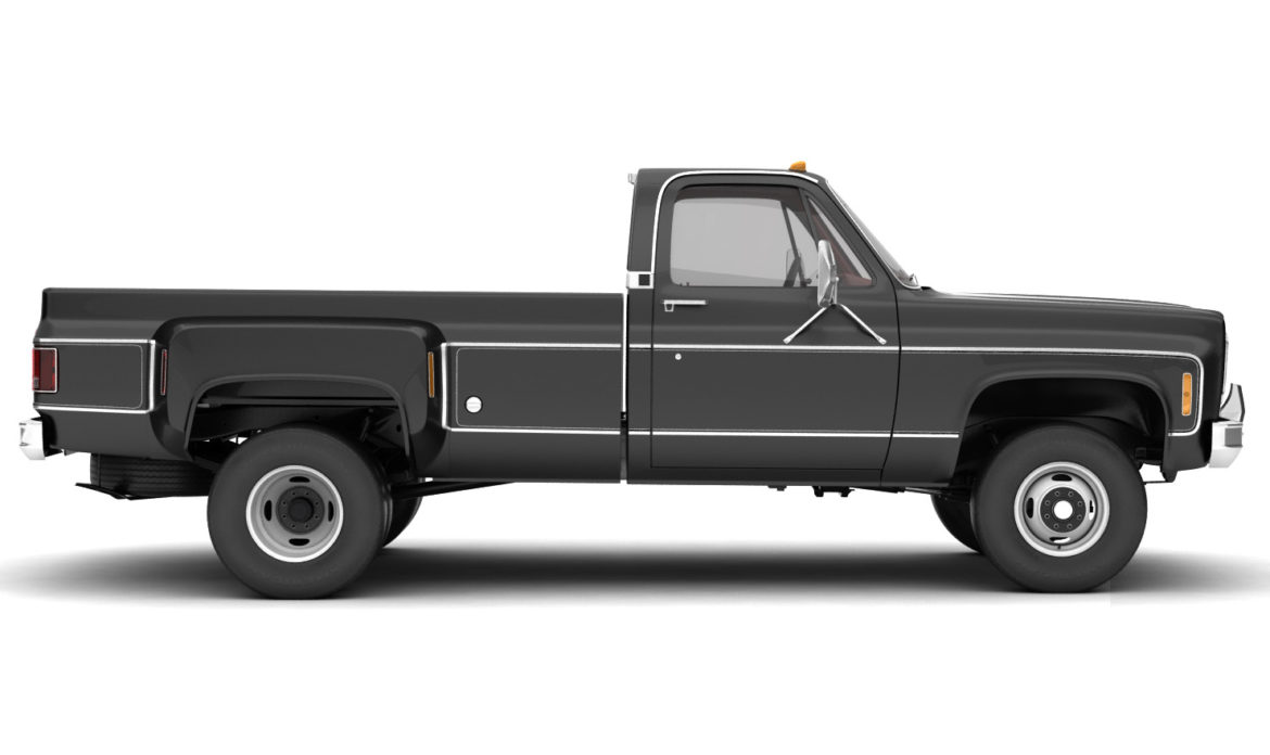 generic 4wd dually pickup truck 8 3d model 3ds max fbx obj 307116