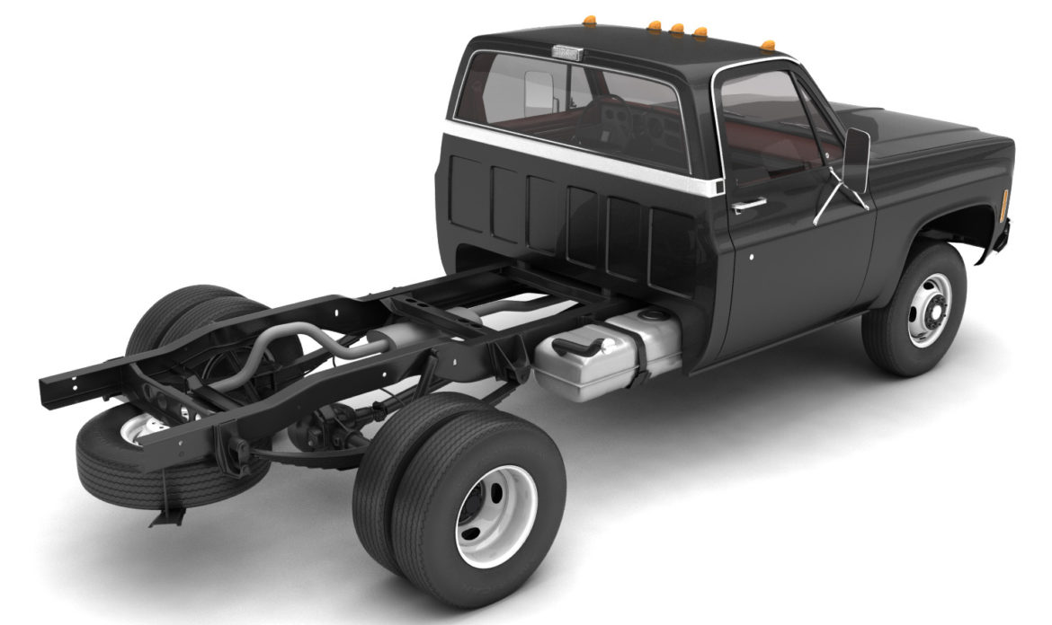 generic 4wd dually pickup truck 8 3d model 3ds max fbx obj 307117