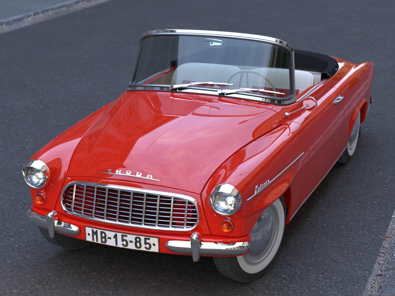 Škoda felicia roadster 1960 3d model 3ds max fbx c4d dae obj 307181
