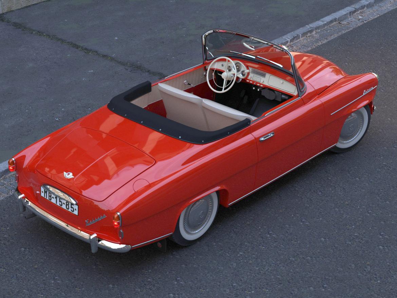 Škoda felicia roadster 1960 3d model 3ds max c4d dae fbx obj 307182
