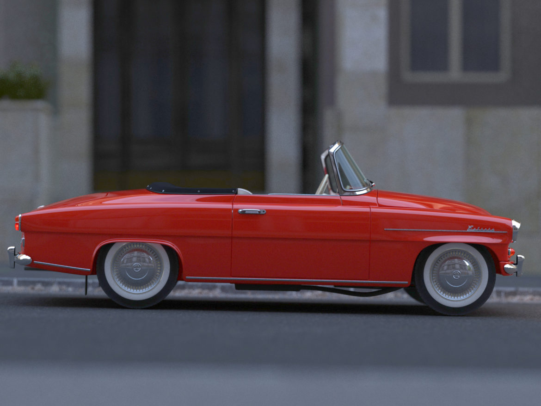 Škoda felicia roadster 1960 3d model 3ds max fbx c4d dae obj 307184
