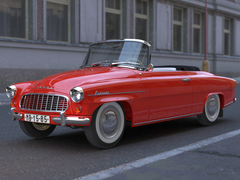 Škoda felicia roadster 1960 3d model 3ds max fbx c4d dae obj 307186