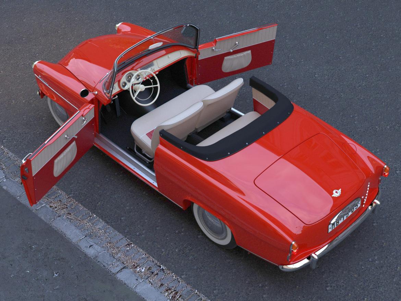 Škoda felicia roadster 1960 3d model 3ds max fbx c4d dae obj 307187