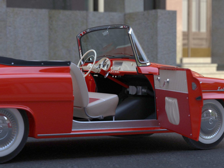 Škoda felicia roadster 1960 3d model 3ds max fbx c4d dae obj 307188