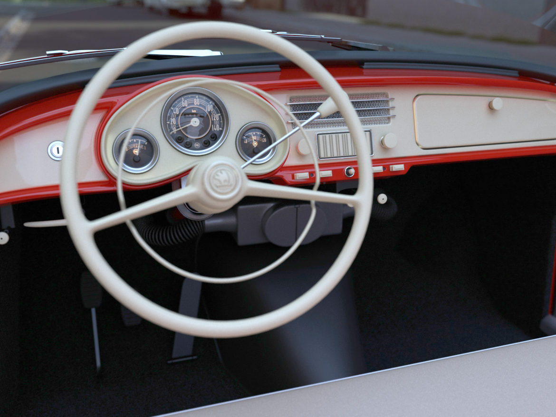 Škoda felicia roadster 1960 3d model 3ds max c4d dae fbx obj 307189