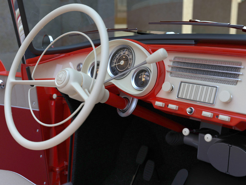 Škoda felicia roadster 1960 3d model 3ds max fbx c4d dae obj 307190