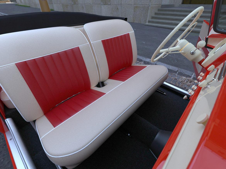 Škoda felicia roadster 1960 3d model 3ds max c4d dae fbx obj 307191