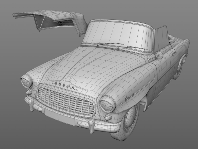 Škoda felicia roadster 1960 3d model 3ds max c4d dae fbx obj 307193