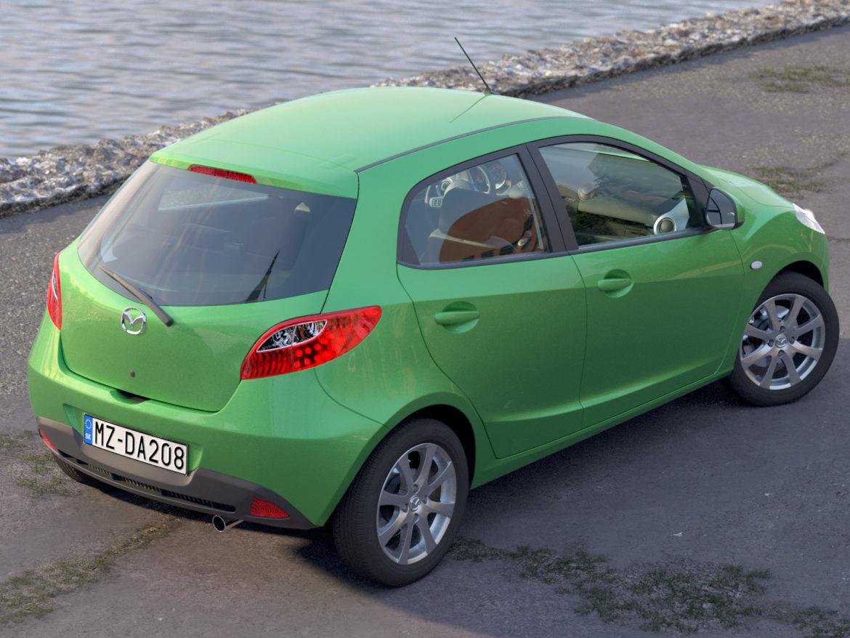 hatchback mazda 2 2008 3d gerð 3ds max fbx c4d dae obj 307358