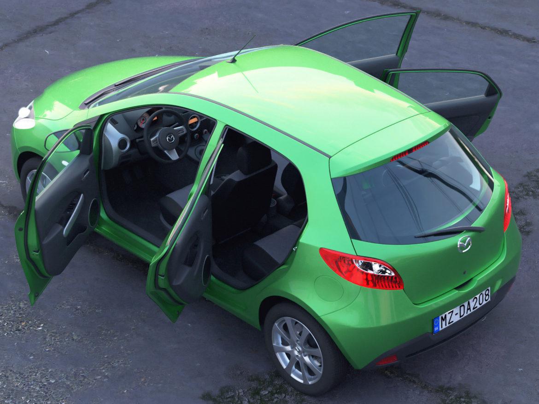 hatchback mazda 2 2008 3d model 3ds max fbx c4d dae obj 307363