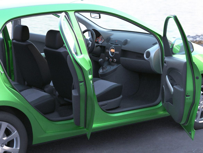 hatchback mazda 2 2008 3d model 3ds max fbx c4d dae obj 307364
