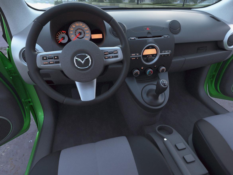 hatchback mazda 2 2008 3d gerð 3ds max fbx c4d dae obj 307365