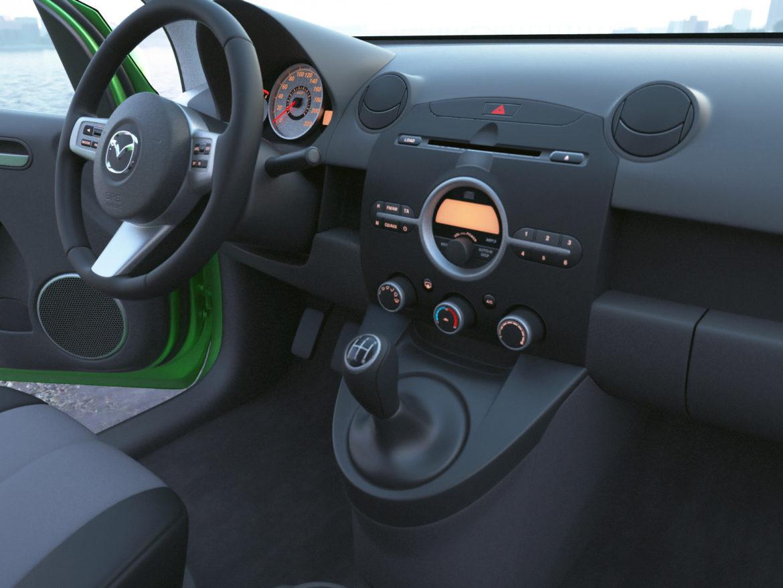 hatchback mazda 2 2008 3d gerð 3ds max fbx c4d dae obj 307366